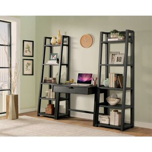 Leaning/Ladder Desk with Bookcases
