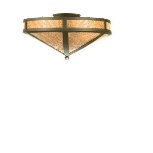 Meyda Tiffany Craftsman Prime 2-Light Flush Mount