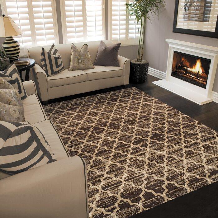 Trellis tapis marron/Beige