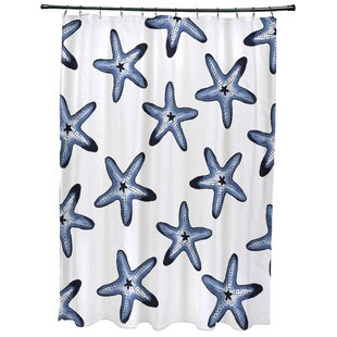 Oakley Soft Starfish Geometric Print Single Shower Curtain