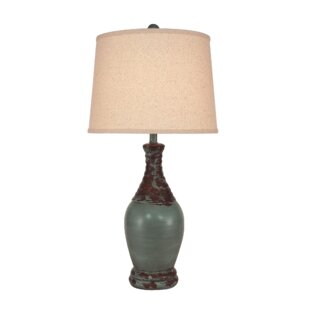 Hafner Ribbed Neck Tear Drop 30 Table Lamp