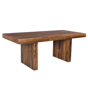 Union Rustic Lusby Sheesham Wood Dining Table