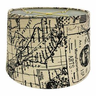 Map Postcard Hardback Paper Drum Lamp Shade