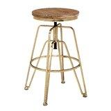 Maureen Swivel Solid Wood Adjustable Height Bar Stool by Mistana™