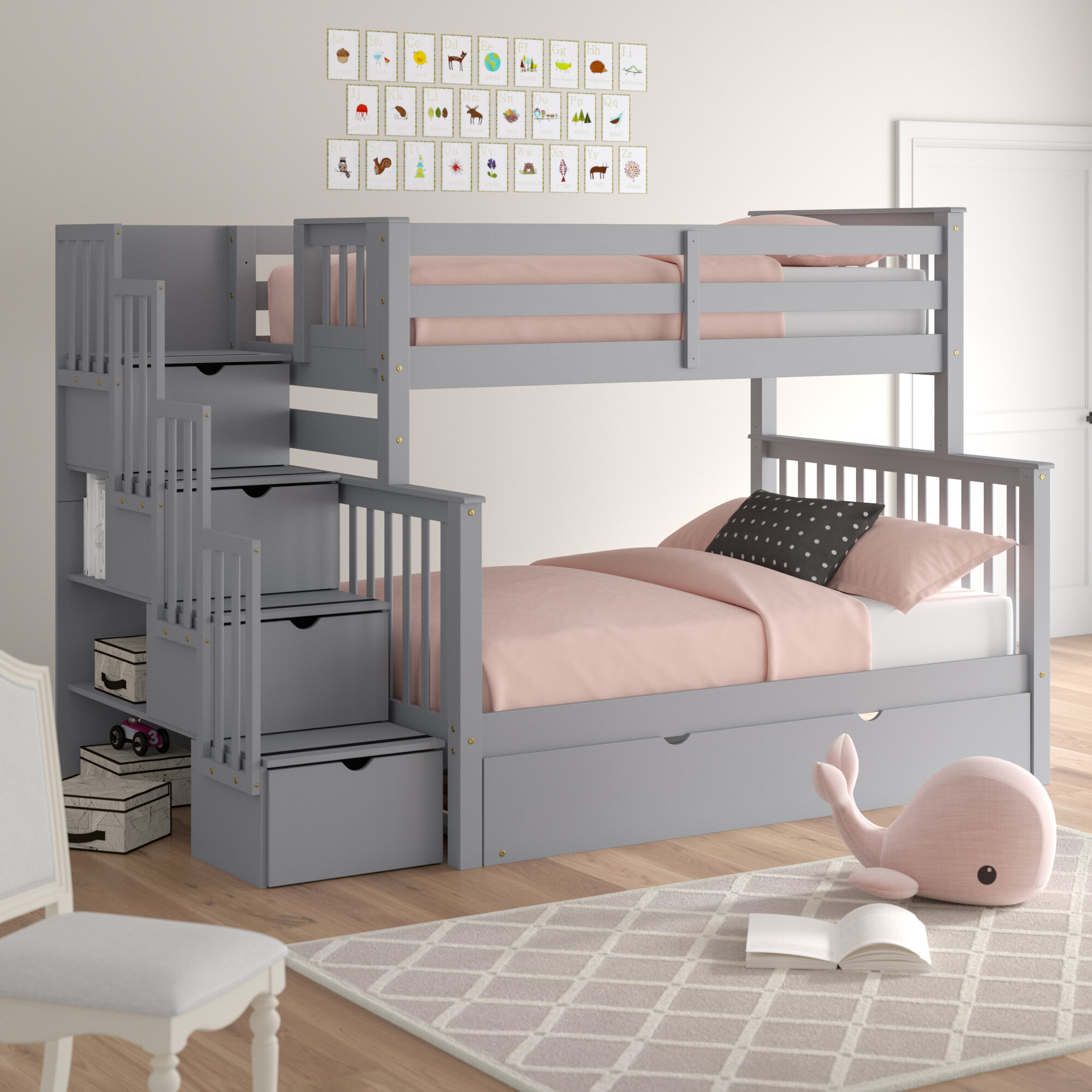 Advantages And Drawbacks Of Strong Wooden Loft Bed With Stairs AllModern