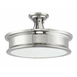 Ginder 3-Light Semi Flush Mount by Charlton Home