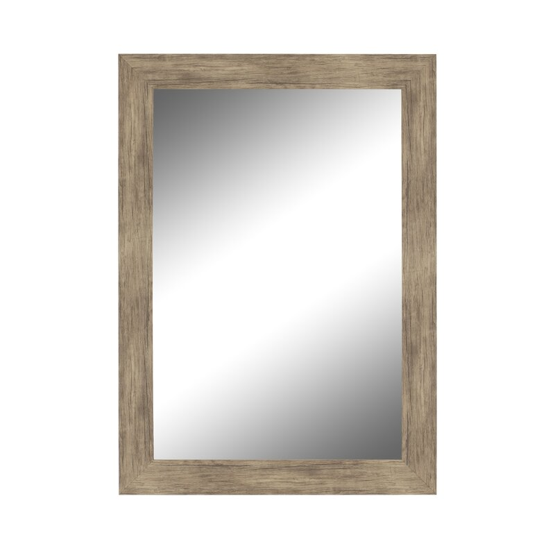 770ce195a30c1 Areli Weathered Sand Barnwood Wall Mirror   Reviews