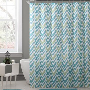 Kallock Royal Bath Chevron Polyester Single Shower Curtain by Ebern Designs Find