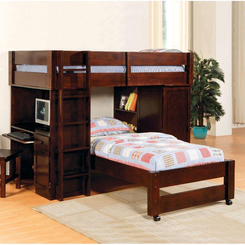 Harriet Bee Aldana Twin over Twin L-Shaped Bunk Bed | Wayfair