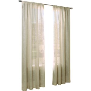 Vita Solid Sheer Thermal Rod Pocket Single Curtain Panel