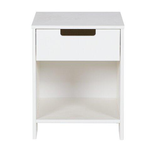 Nachttisch Jade mit Schublade | Schlafzimmer > Nachttische | Weiß | Woood