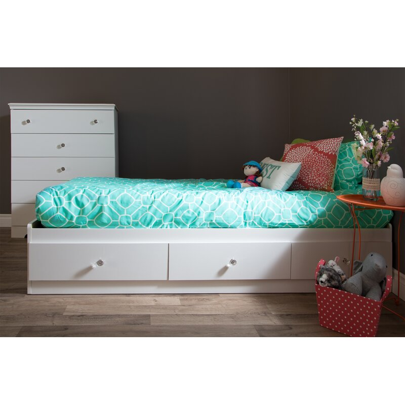 South Shore Crystal Twin Mate S Bed With Storage Reviews Wayfair