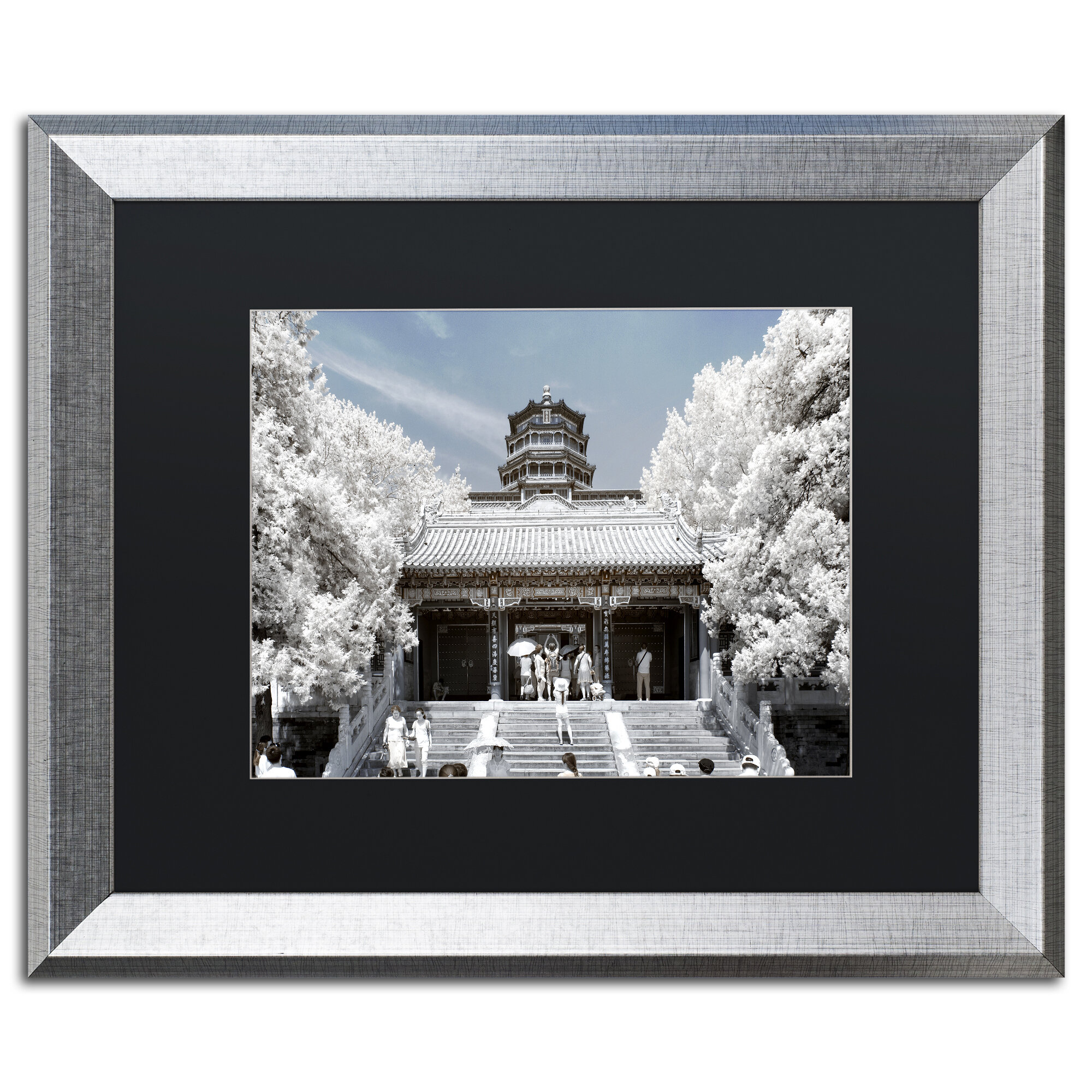 Trademark Art White Palace I By Philippe Hugonnard Framed Photographic Print Wayfair