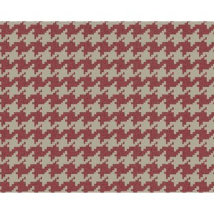 Review Creech 33' L x 21 W Houndstooth Peel and Stick Wallpaper Roll by Red Barrel Studio