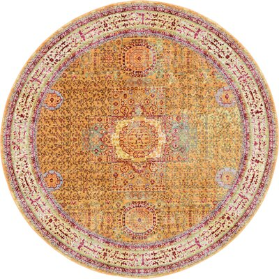 Round Yellow Amp Gold Area Rugs You Ll Love In 2019 Wayfair