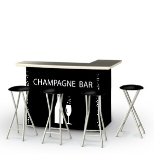 Best of Times Champagne 7 Piece Bar Set
