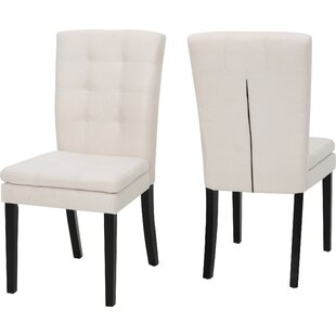 Woodruff Fabric Upholstered Side Chair (Set of 2) by Wrought Studio