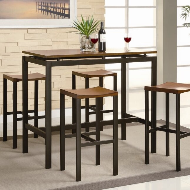 brayden studio swigart 5 piece pub table set reviews wayfair