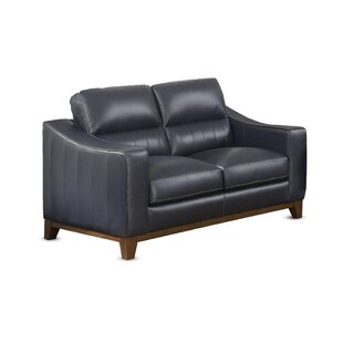 Yokley Leather Loveseat