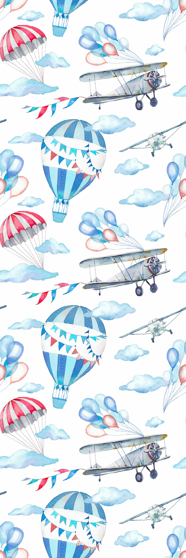 1884e74b93e20 Jeb Removable Watercolor Balloons Nursery Wallpaper 8.33' L x 25