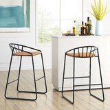 Dowgry Solid Wood 33 Bar Stool (Set of 2) by 17 Stories