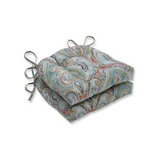 Pretty Witty Reef Reversible Indoor/Outdoor Dining Chair Cushion (Set of 2)