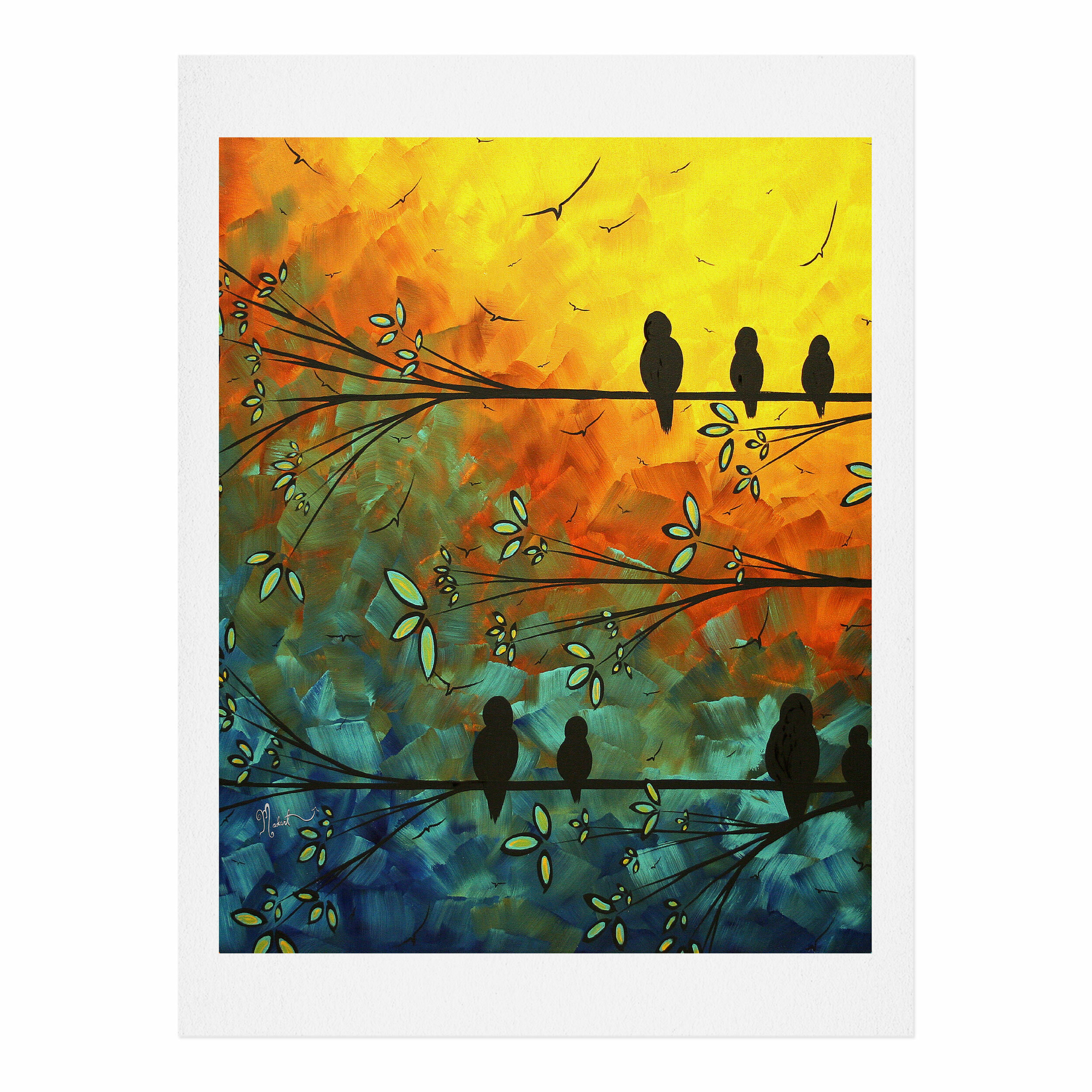 Deny Designs Birds Of A Feather By Madart Inc Graphic Art Print On Paper Wayfair