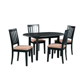 Forsyth 5 Piece Extendable Solid Wood Dining Set