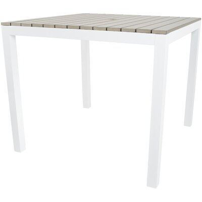 Penelope Aluminum Dining Table by Rosecliff Heights #2