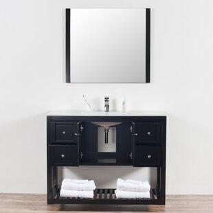 Lahr 48 Single Bathroom Vanity Set with Mirror By Breakwater Bay