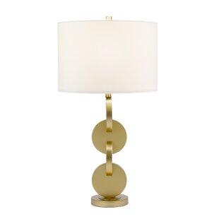Gilliland Mid Century Modern Interlocking Metal Disc 32 Table Lamp
