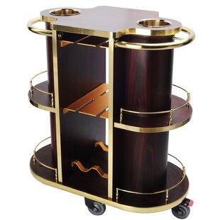 Cosmopolitan Furniture Wooden Bar Cart
