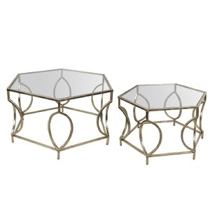 Affordable 2 Piece Coffee Table Set by Privilege