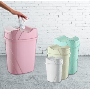 Plastic 9.5 Gallon Swing Top Trash Can
