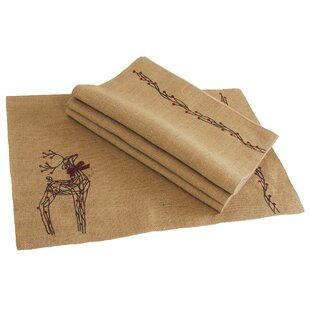 Compare Uncompahgre Jute Christmas Placemat (Set of 4) By Loon Peak