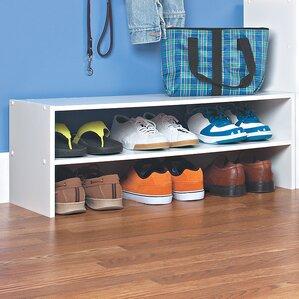 stackable horizontal 2tier shoe rack