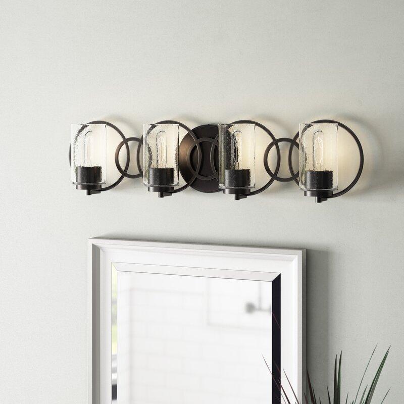 Wrought Studio Lorelai 4 Light Vanity Light Reviews Wayfair