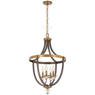 Gracie Oaks Mauer 4-Light Urn Pendant