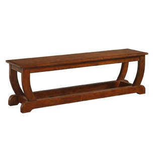 Bracamonte Wood Bench by Canora Grey