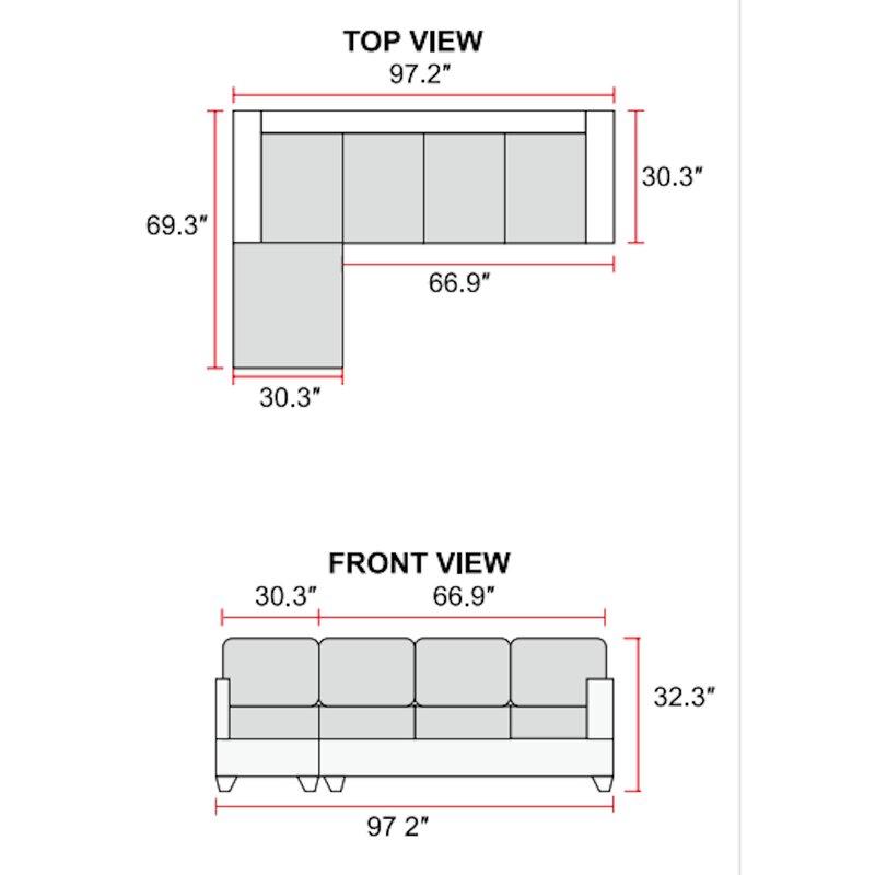 Red Barrel Studio Lovis 97 2 Left Hand Facing Corner Sectional With Ottoman Wayfair