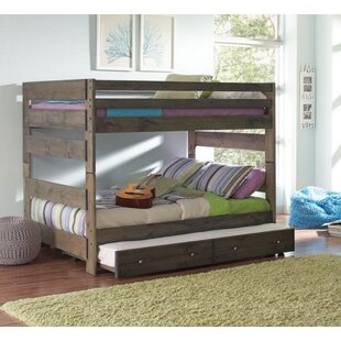 Setser Full Over Full Bunk Bed with Trundle and Chest by Harriet Bee