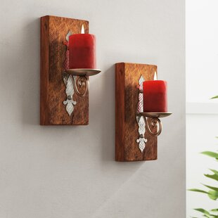 Reclaimed Wood Sconces (Set of 2)