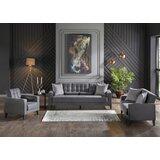 Avishai 3 Piece Sleeper Living Room Set by Latitude Run®