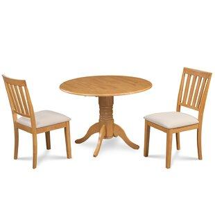 Chesterton 3 Piece Solid Wood Dining Set by Alcott Hill New Design