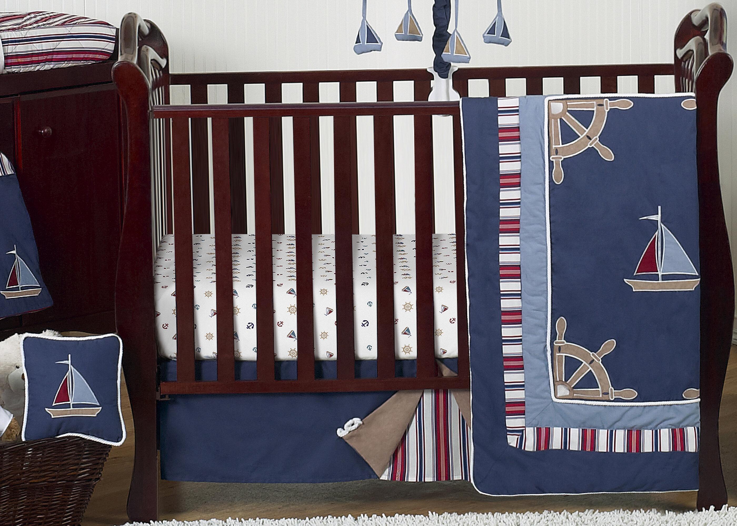 Image of: Sweet Jojo Designs Nautical Nights 11 Piece Crib Bedding Set Wayfair