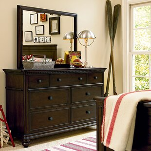 Read Reviews Chassidy Kids 7 Drawer Double Dresser with Mirror ByHarriet Bee