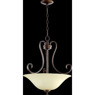 Charlton Home Loomis 3-Light Bowl Pendant
