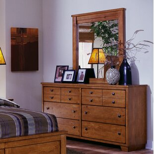 Winston Porter Chinn Casual 6 Drawer Double Dresser with Mirror