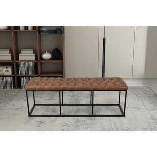 Thrapst Faux Leather Bench