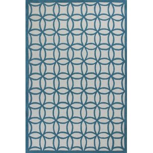 Shari Teal Kaleidoscope Area Rug